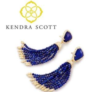 NWT KENDRA SCOTT Blossom Statement Tassel Earrings